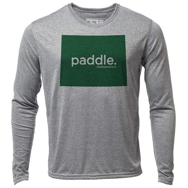 paddle. Wyoming + Mens LS Hybrid T