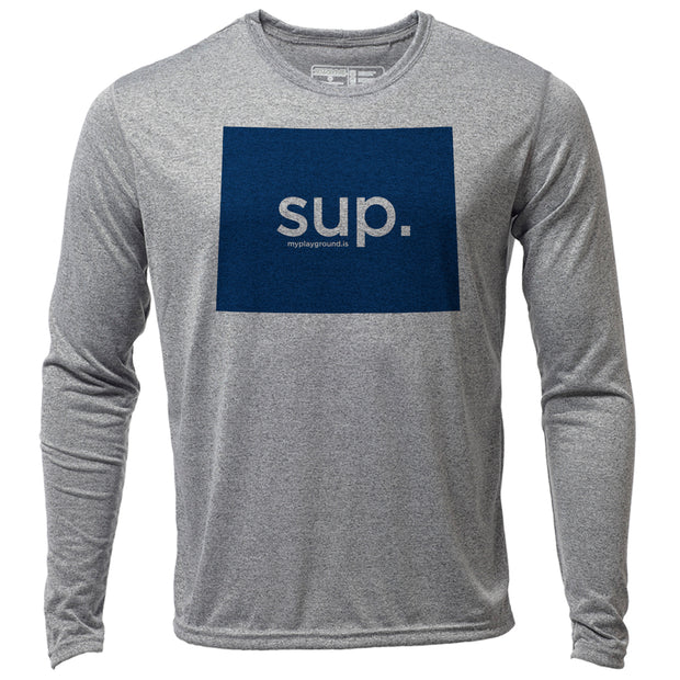 SUP. Wyoming + Mens LS Hybrid T