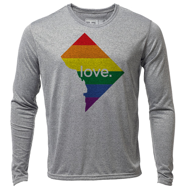 love. Washington DC + Mens LS Hybrid T