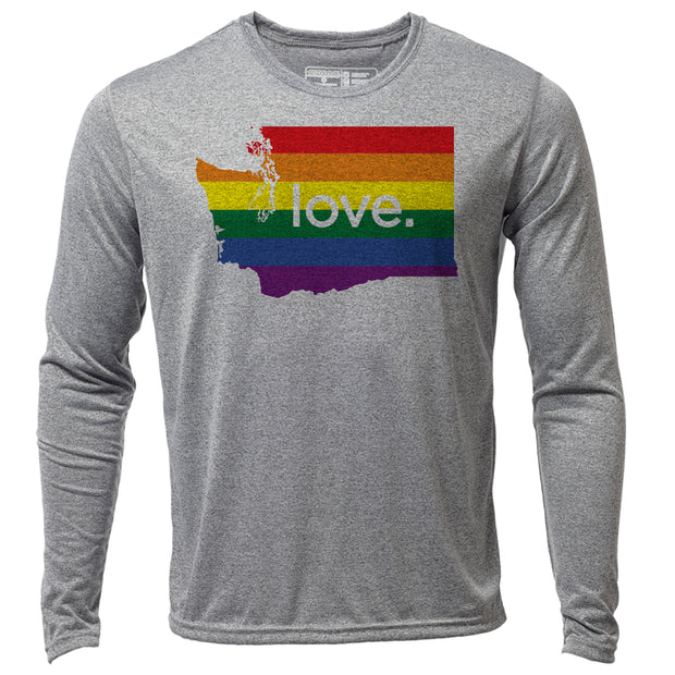 love. Washington + Mens LS Hybrid T
