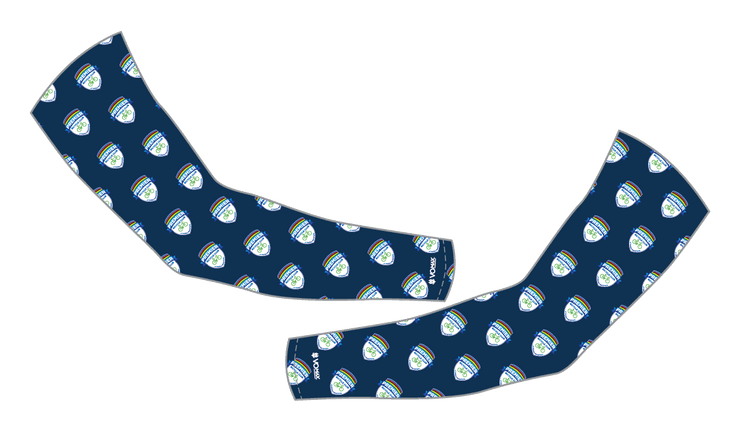 Premier Bicycle Club Arm Warmers-Navy All Over Print