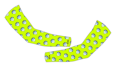 Premier Bicycle Club Arm Warmers-Hi-Viz All Over Print