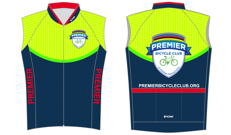 CLUB CUT Premier Bicycle Club Sleeveless Cycling Jersey