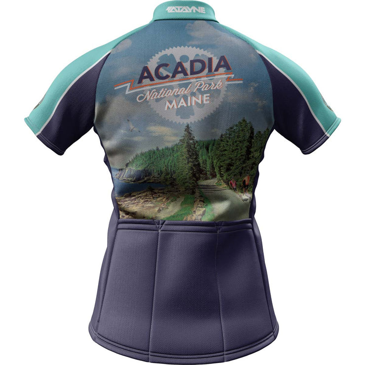 Acadia National Park + Womens Short Sleeve REC Cycling Jersey