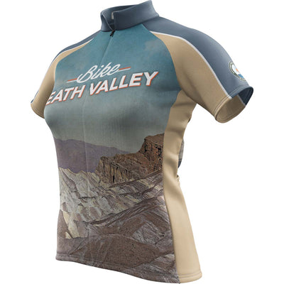 Death Valley National Park + Womens Short Sleeve REC Cycling Jersey