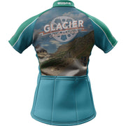 Glacier National Park + Womens Short Sleeve REC Cycling Jersey