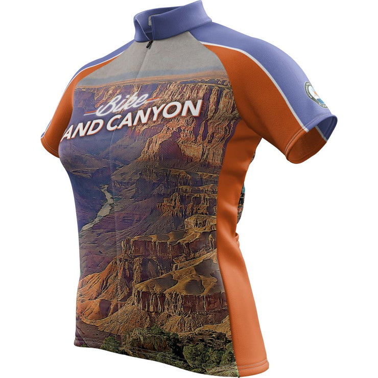 Grand Canyon National Park + Womens Short Sleeve REC Cycling Jersey