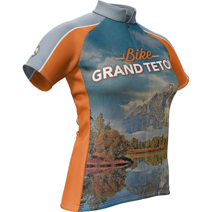 Grand Teton National Park + Womens Short Sleeve REC Cycling Jersey