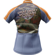 Great Smoky Mountain National Park + Womens Short Sleeve REC Cycling Jersey