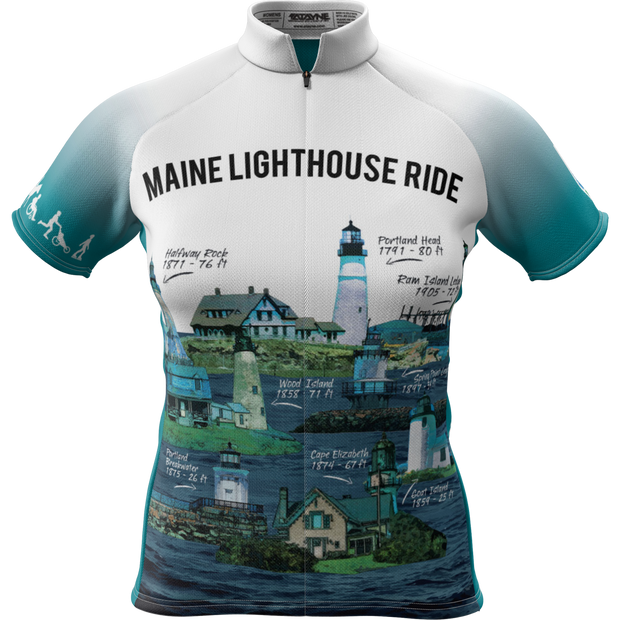 Maine Lighthouse Ride 2016 + Womens Cycling Jersey (ORDER UP IF WANT LOOSER)