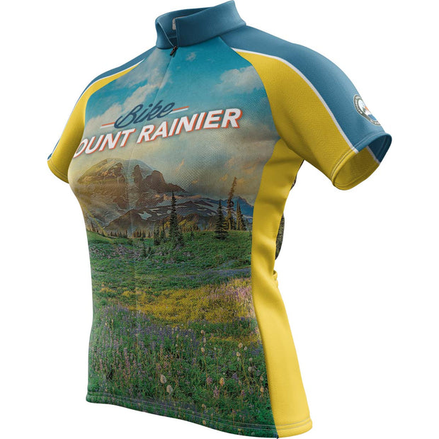 Mount Rainier National Park + Womens Short Sleeve REC Cycling Jersey