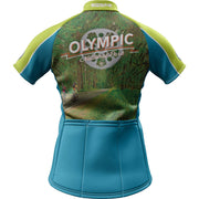 Olympic National Park + Womens Short Sleeve REC Cycling Jersey