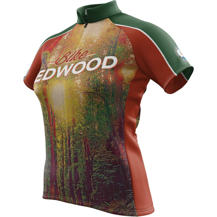 Redwood National Park + Womens Short Sleeve REC Cycling Jersey
