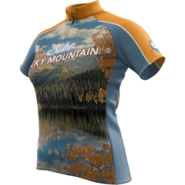 Rocky Mountain National Park + Womens Short Sleeve REC Cycling Jersey