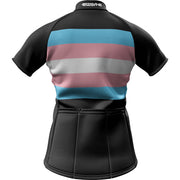 "Transgender Pride + Feminine ""Curvy Cut"" Fit Short Sleeve REC Cycling Jersey"