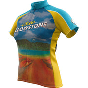 Yellowstone National Park + Womens Short Sleeve REC Cycling Jersey