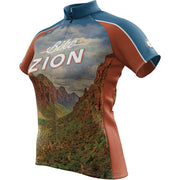 Zion National Park + Womens Short Sleeve REC Cycling Jersey
