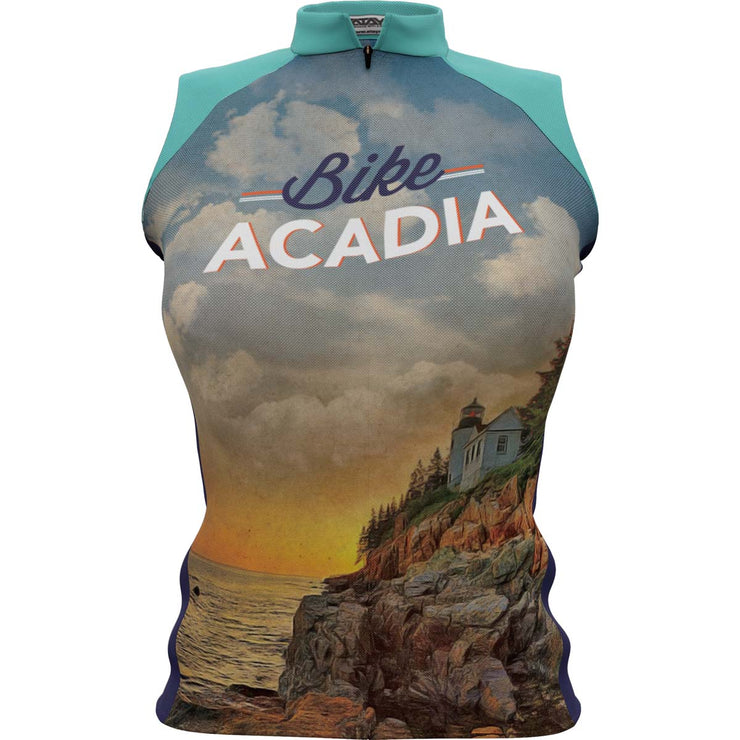 Acadia National Park + Womens Sleeveless REC Cycling Jersey