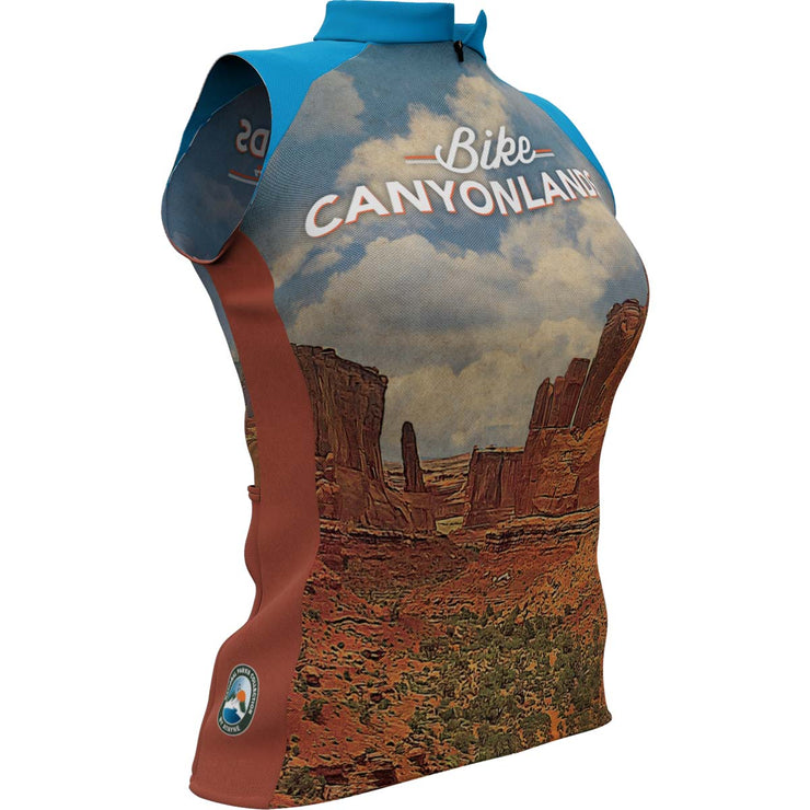 Canyonlands National Park + Womens Sleeveless REC Cycling Jersey