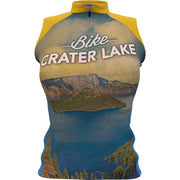 Crater Lake National Park + Womens Sleeveless REC Cycling Jersey