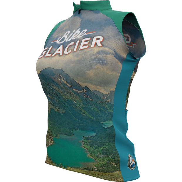 Glacier National Park + Womens Sleeveless REC Cycling Jersey