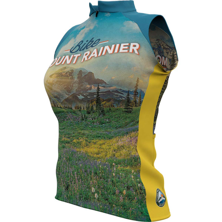Mount Rainier National Park + Womens Sleeveless REC Cycling Jersey