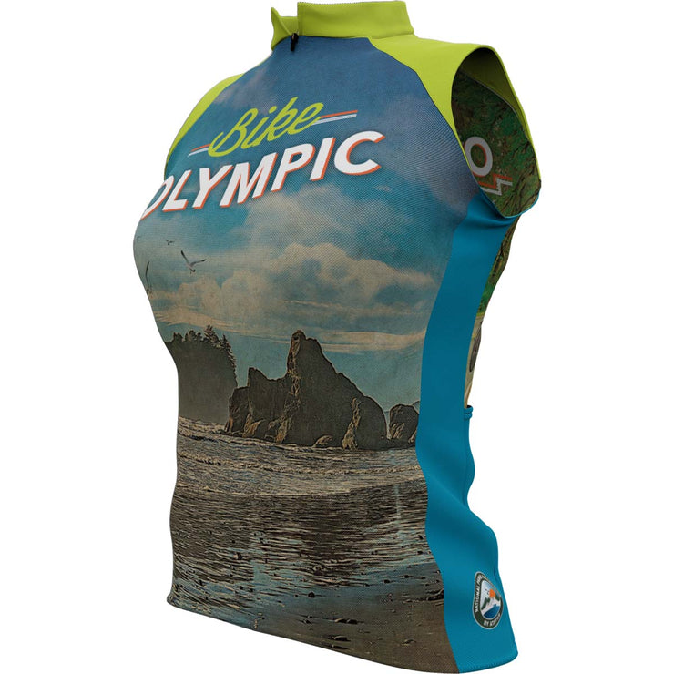 Olympic National Park + Womens Sleeveless REC Cycling Jersey