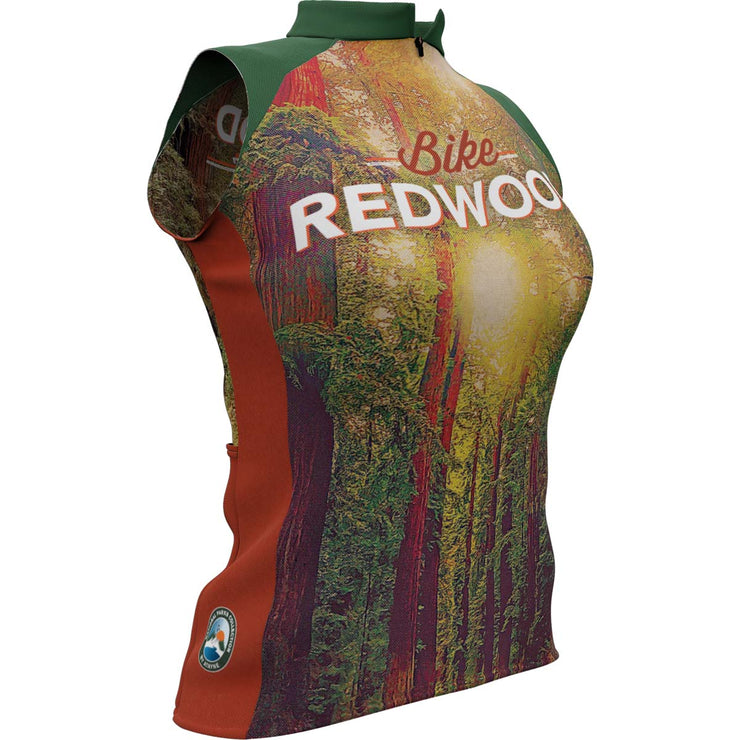 Redwood National Park + Womens Sleeveless REC Cycling Jersey