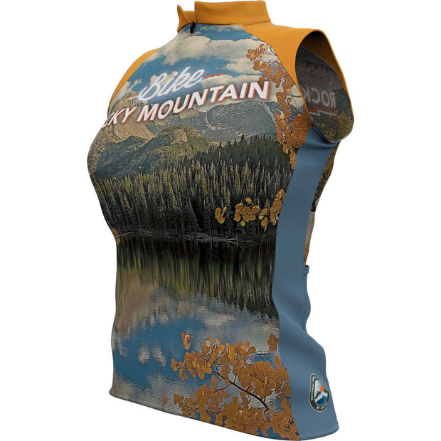 Rocky Mountain National Park + Womens Sleeveless REC Cycling Jersey