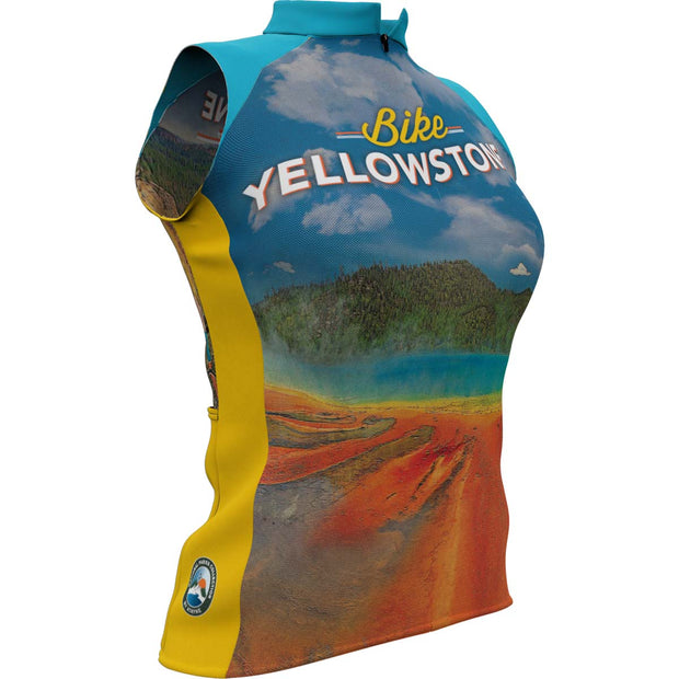 Yellowstone National Park + Womens Sleeveless REC Cycling Jersey