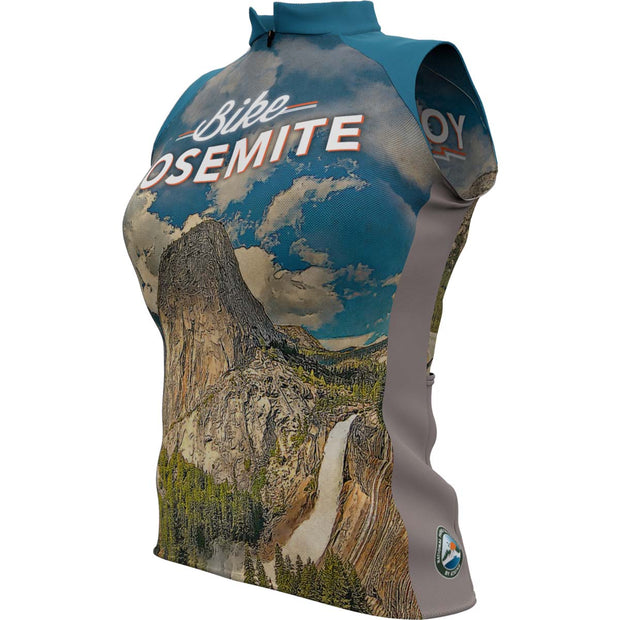 Yosemite National Park + Womens Sleeveless REC Cycling Jersey