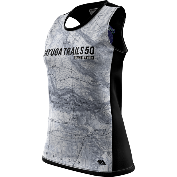 Cayuga Trails 50 + Womens Grind Singlet