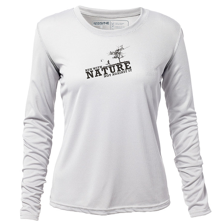 Run with Nature + Womens Long Sleeve REC T