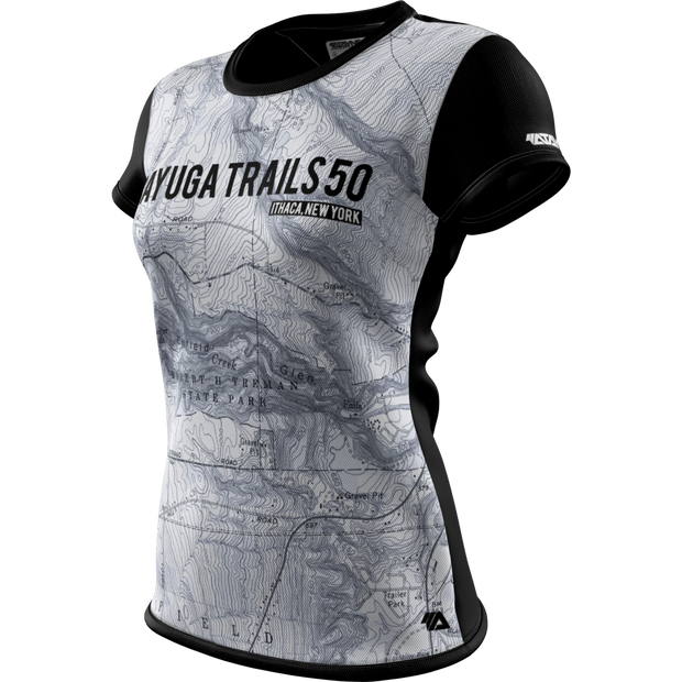 Cayuga Trails 50 + Womens Short Sleeve REC T Elite