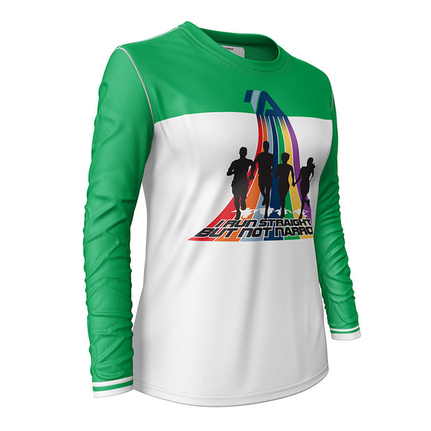 I Run Straight But Not Narrow + Womens Long Sleeve REC T Elite