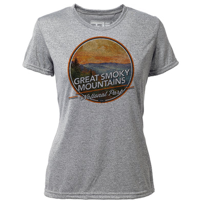 Great Smoky Mountains + Womens SS Hybrid T