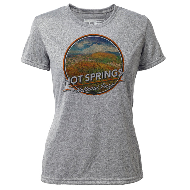 Hot Springs + Womens SS Hybrid T