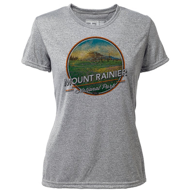 Mount Rainier + Womens SS Hybrid T