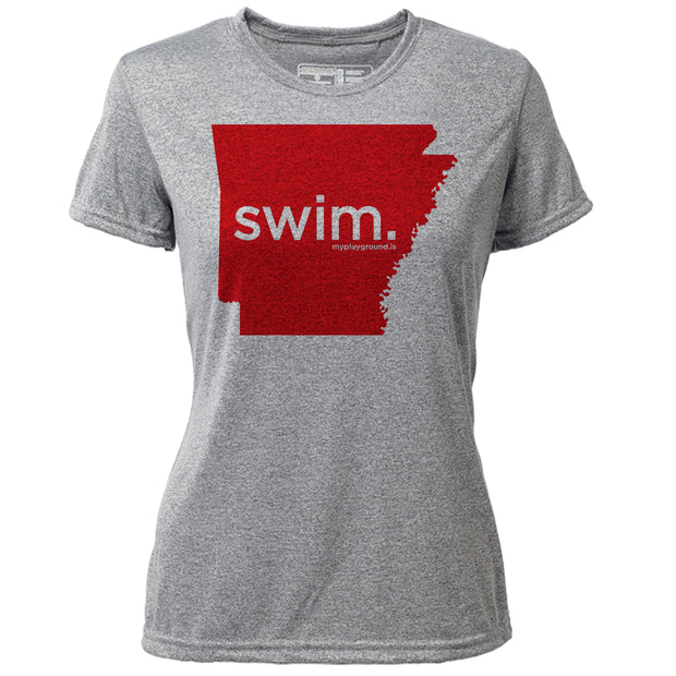swim. Arkansas + Womens SS Hybrid T
