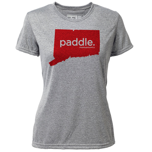 paddle. Connecticut + Womens SS Hybrid T