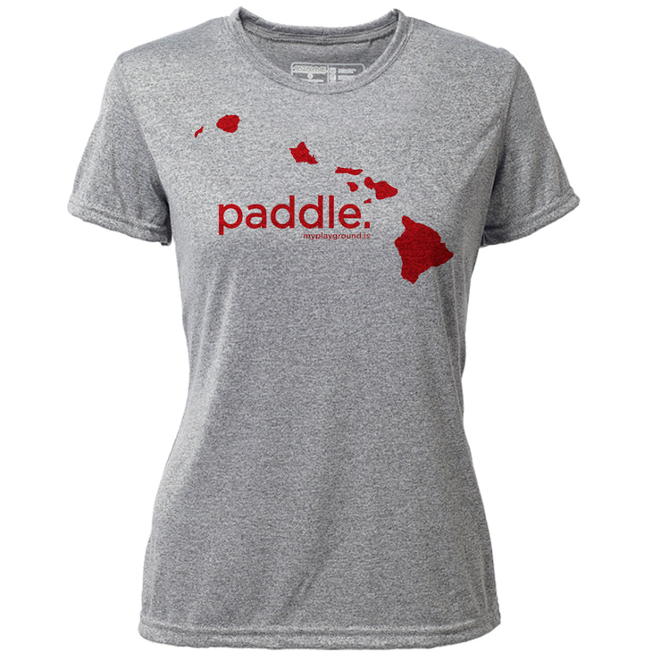 paddle. Hawaii + Womens SS Hybrid T