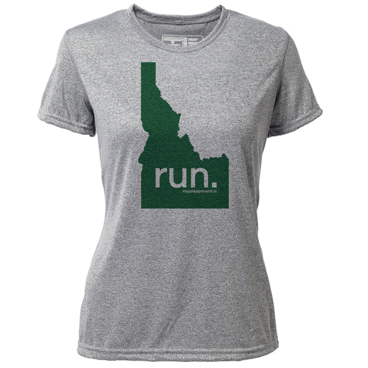 run. Idaho + Womens SS Hybrid T