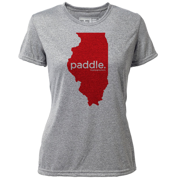 paddle. Illinois + Womens SS Hybrid T