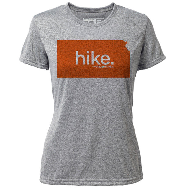 hike. Kansas + Womens SS Hybrid T