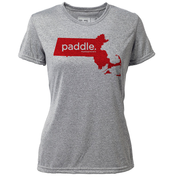 paddle. Massachusetts + Womens SS Hybrid T