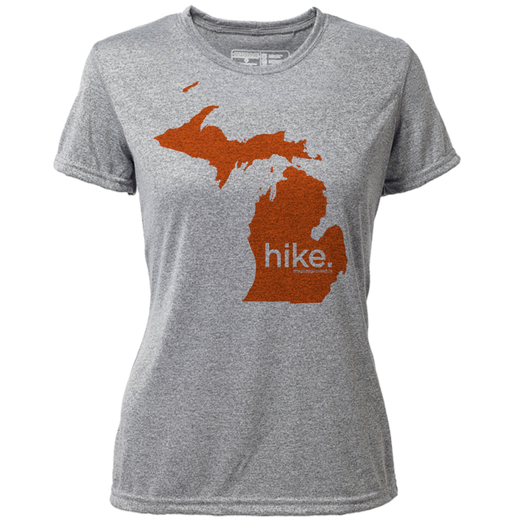 hike. Michigan + Womens SS Hybrid T