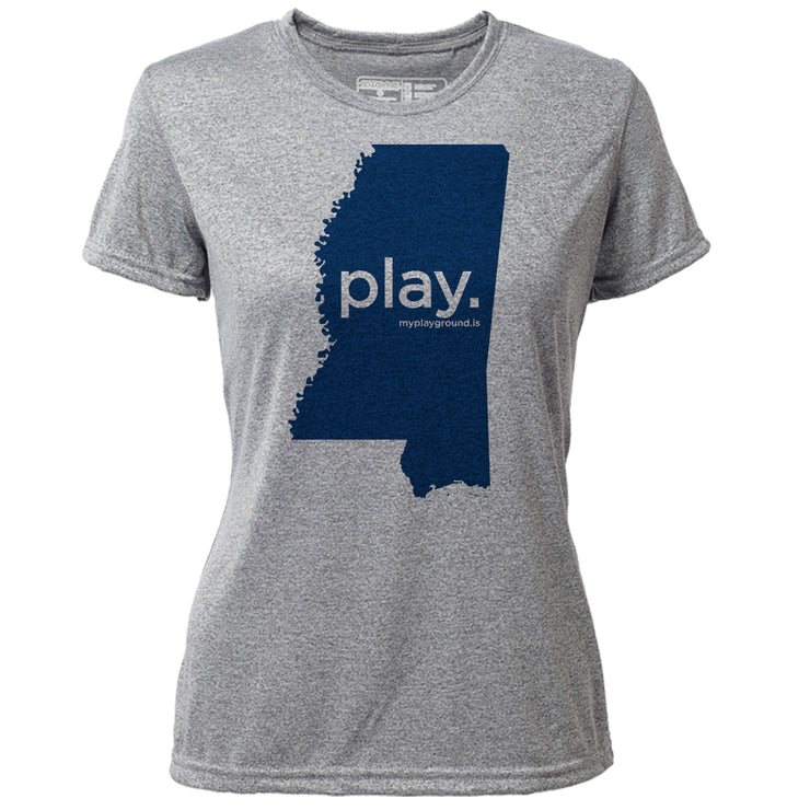 play. Mississippi + Womens SS Hybrid T
