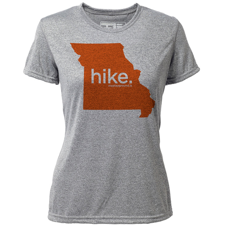 hike. Missouri + Womens SS Hybrid T