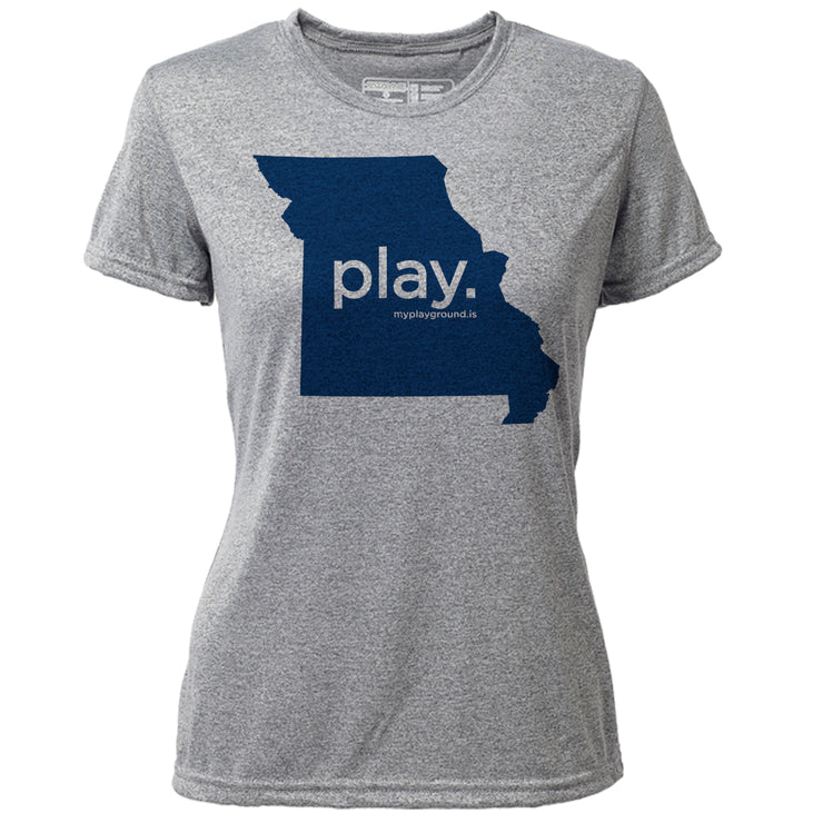 play. Missouri + Womens SS Hybrid T