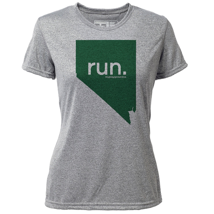 run. Nevada + Womens SS Hybrid T